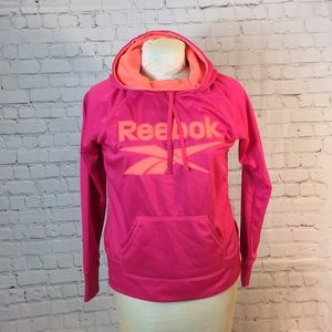 Like new Reebok pink/orange hoodie